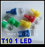 Free Shipping hot sale with good qualtiy T10 W5W 168 194 1 LED Car Wedge Light Lamp Bulbs White, Yellow, blue,Color