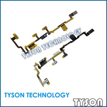 Original Power on/off Volume Switch Flex Cable for iPad 2 2nd Gen Free Shipping