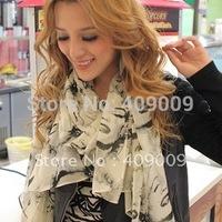 2013 long scarf women's print chiffon purported silk feeling Monroe head scarf
