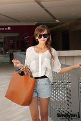 2013 New Hot Popular Retro Handbag Fashion Woven Belt Handle Women Shoulder bag Wholesale(China (Mainland))