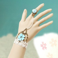 free shipping wholesale jewelry sayonara fairy bracelets with ring bridal bridesmaid assecories party bracelets set jewelry