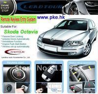 One way remote engine start RFID keyless entry car alarm system for Skoda Octavia alarm system