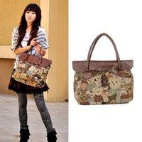 Hot Casual Teddy Bear Classical Vintage Women Messenger Bag Tote Purse Handbags Hotsale New wholesale