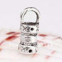100pcs/lot Tibetan Silver Crimp End Cap For 2.5mm Leather Cords CA551