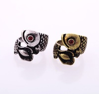 Wholesale Jewelry  Antique retro unique OWL classic Rings cute lovely fashion vintage ring SIZE 7 SJJ048 Free Shipping