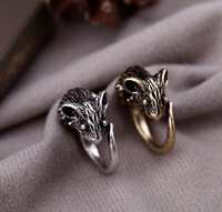 Wholesale Jewelry Unique Punk cute sweet mouse Rings classic fashion antique vintage Ring SIZE 7 SJJ052 Free Shipping