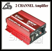 DHL Free Shipping 2CH 500W MOTORCYCLE/CAR Stereo Amplifier Speakers MP3 ATV AMPLIFIER