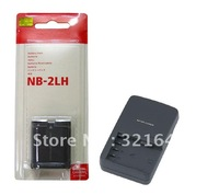 Super cheap  Free Shipping NB-2LH Camera Rechargeable Li-ion Battery + CB-2LWE Charger For Canon Digital Camera Suit