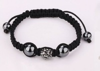 everyone like it !SHAMBALLA HANDMADE BRACELET CZECH CRYSTAL DISCO BALL 876432