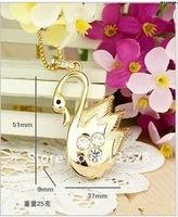 Original Full Capacity  4G/8G/16G/32G Swan shaped Jewelry usb flash disk drive key  jewelry gift usb memory drive Free Shipping