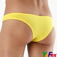 Free Shipping 1pcs/lot New Mens Cotton + Modal Underwear Cheeky Sexy Briefs 3 Size 7 Color CL3248