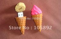 Freeshipping two color  30pcs/lot 100% full memory sweet food pendrive ice cream usb flash drive pen gift