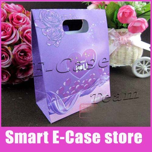 300 pcs a lot High quality gift package bags/jewelry bags craft paper bags for party favor SEPB20 4 pattern to choose(China (Mainland))