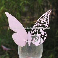 hot sell butterfly delicate paper personalized customized wedding favor MOQ 300 laser cut designer wedding place card