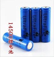 4pcs/lot Ultrafire Li-ion Rechargeable 14500 Battery 3.7V 1200mAh for LED torch/flashlight/Digital Camera without PCB
