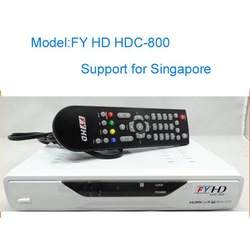 Free shipping FYHD800-C II HD receiver to Singapore FY HD800-C II For Singapore Can Watch European Cup(China (Mainland))