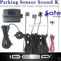 4 Parking Sensors Car Reverse Backup Radar Sound Alert Silver Gold Blue Black Red Wine red White Orange Yellow MoreColor