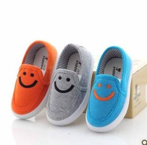 2013 envío gratis niño zapatos de lona casual sonriente lounged tela ...