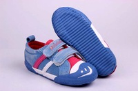 NEW 2014 Flats Shoes Kids Sneakers Children Shoes Canvas Smiley Casual Cotton Cloth Pedal Boys Girl Child Sport Shoes