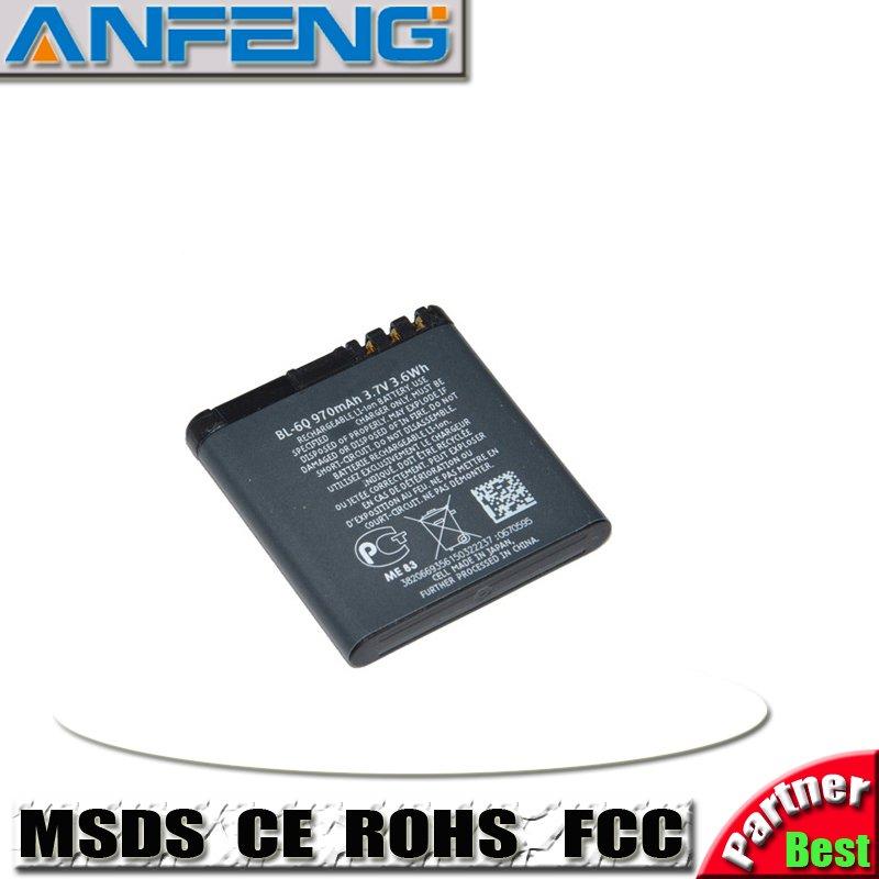 free shipping 10PCS/lot High Quality 1000mAh Battery BL-6Q BL 6Q BL6Q for NOKIA 6700(China (Mainland))