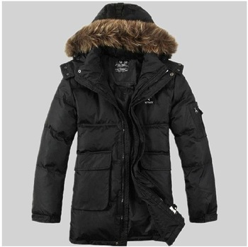 Free shipping !!! 2013 New Men's Brand winter fashion natural Raccoon hair Outdoor down jacket down Coat / S-XXL