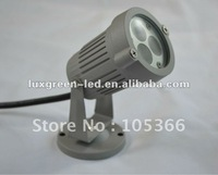 3x3w 3in1RGB 12-24v LED Outdoor Garden Lights with 2 years warranty