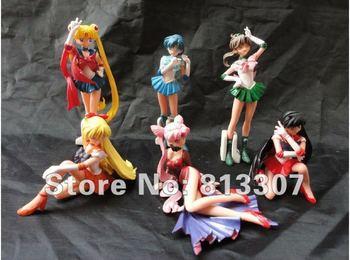 High Quality Anime Sailor Moon Cartoon PVC Figure Toy 6 pcs set