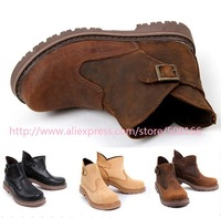New arrived Fashion Genuine leather rubber-sole Ankle boots women&men couple LOVERS shoes size 36-44 TOP quality