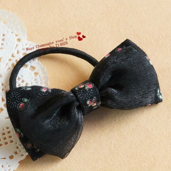 Pony bowknot flowers print patchwork headbands/Elastic hairband/Hair accessories/Headwear for women.Hot selling.TTC03M03