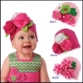 FREE SHIPPING The Newest 100% Cotton Baby Hat Baby Beanie Cap/Flower Hat For Baby Christmas Gift