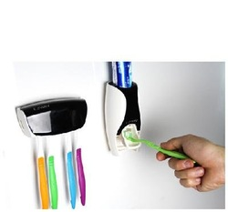 New multi-functional auto Toothpaste Dispensor Toothbrush Holder Set toothbrush rack(China (Mainland))