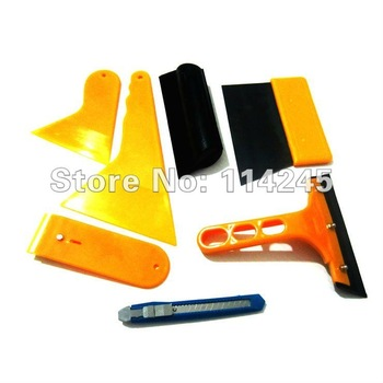 Auto Car Body wrapping Sticker Installation Auxiliary tools Scraper set 7pcs Set