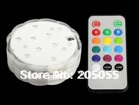 10 leds Color change submersible Wedding Party light Base Vase Remote controlled submersible Wedding Floralytes LED FLORAL LIGHT
