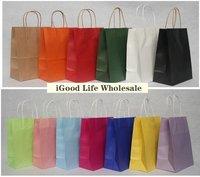 50pcs/lot  21*11*27cm  baby shower favor bags paper kraft bags paper favor bag favor bag