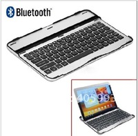 20pcs/lots Aluminium Bluetooth Wireless Keyboard for Samsung Galaxy Tab 10.1 P7500 P7510 Tablet PC for Free shipping