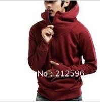 Free shipping 2012 new men's jacket fashion hooded men's sweater men cardigan