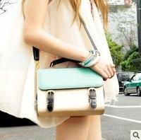 2012 new restore ancient ways bag contrast color postman bag color matching single shoulder slope span female bag