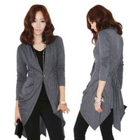 new arrival autumn women's cape outerwear Women plus size sweater cardigan female
