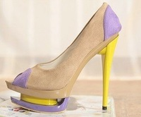 Free shipping new arrival fashion rivets high heels shoes wholesales drop ship women's shoes black X1314
