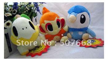 "wholesale small fire monkey 3 styles high quality Pokemon toy Pikachu soft plush doll 5.1"" 1set=3pcs"