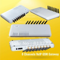 FREE SHIPPING,support SIP and H.323,8 ports gsm voip gateway/pbx voip sip gsm gateway, GoIP8