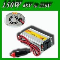 Meind Modified sine wave 150W DC 48V to AC 220V USB Mobile Car Power Inverter converter with cigarette lighting