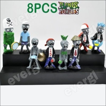 Plants Vs Zombies Funny Action Figure Toy 8PCS Set Rare 3""
