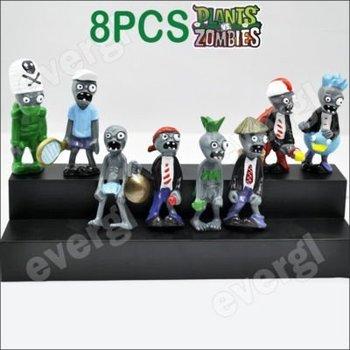 "Plants Vs Zombies Funny Action Figure Toy 8PCS Set Rare 3"""