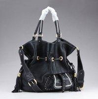 Top quality original brand bucket real calf leather black ambre tote handbag shoulder bag fashion gift free shipping wholesale