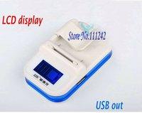 LCD Display Universal Eu US plug charger adapter For mobile phone battery USB 5v power converter