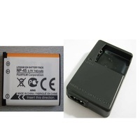 NP-45 Camera Original Rechargeable Li-ion Battery + BC-45 Charger For Fuji Digital Camera