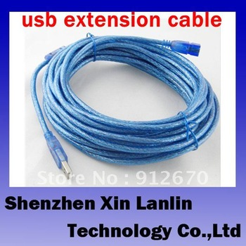 hot sale super good quality 10M usb 2.0 extension cable 96 compilation with single magnet ring 1 pc free shipping #6661
