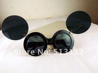 Lady gaga Mickey Mouse Flip Retro Paparazzi Sunglasses Fashion Star Style Round free shipping