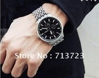 Men Wrist Watches Alloy Fashion Bracelet  Quartz Pointer Colcks Girth 8.6inch